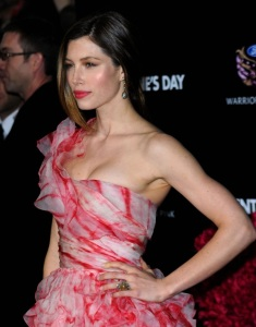 Jessica Biel attends the movie premiere of Valentines Day held on February 8th 2010 at Graumans Chinese Theatre in Hollywood 6