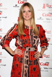 Heidi Klum attends The Heart Truth Red Dress Collection Fall during the Mercedes Benz Fashion Week at Bryant Park on February 11th 2010 in New York City 6