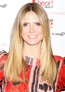 Heidi Klum attends The Heart Truth Red Dress Collection Fall during the Mercedes Benz Fashion Week at Bryant Park on February 11th 2010 in New York City 4