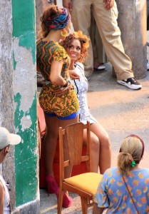 Beyonce Knowles and Alicia Keys  shooting scenes from the new music video duet Put It in a Love Song on February 11th 2010 at Santa Marta slum in Rio de Janeiro 5