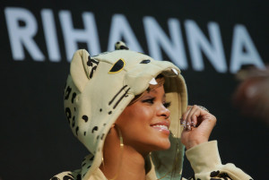 Rihanna attends a fan meeting event at the Coexmall on February 11th 2010 in Seoul South Korea to promote the Rated R album 1