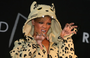 Rihanna attends a fan meeting event at the Coexmall on February 11th 2010 in Seoul South Korea to promote the Rated R album 5