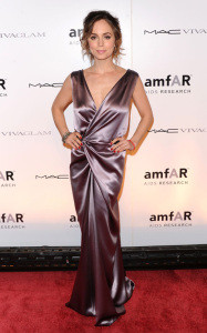 Eliza Dushku attends the amfAR New York Gala during the Fall 2010 Fashion Week at Cipriani 42nd Street on February 10th 2010 in New York City 2