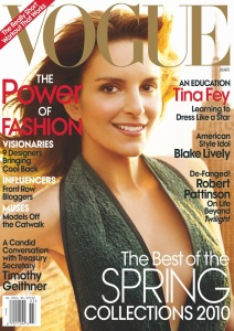 Tina Fey photo shoot for the March 2010 issue of Vogue 8th annual power issue 2