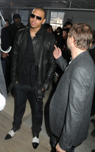 Chris Brown at the Buckler Fall Winter Menswear fashion show on February 12th 2010 during the Mercedes Benz Fashion Week in New York City 1