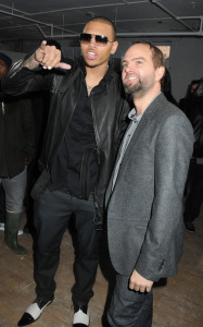 Chris Brown at the Buckler Fall Winter Menswear fashion show on February 12th 2010 during the Mercedes Benz Fashion Week in New York City 3