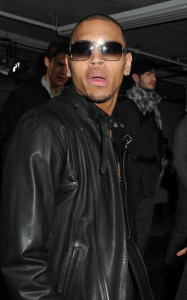 Chris Brown at the Buckler Fall Winter Menswear fashion show on February 12th 2010 during the Mercedes Benz Fashion Week in New York City 4