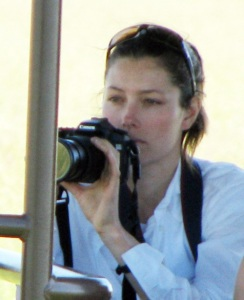 Jessica Biel picture on January 19th 2010 while at the African safari vacation 3