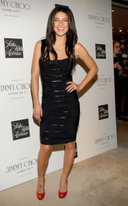 Jessica Szohr spotted at the launch of CHOO 247 on February 11th 2010 at Saks Fifth Avenue in New York City 4
