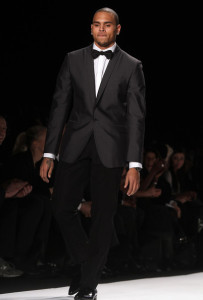 Chris Brown on the runway of Naomi Campbells Fashion For Relief For Haiti held on February 13th 2010 during the Mercedes Benz Fashion Week Fall in New York City 1