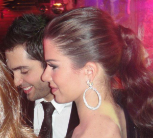 Lara Scandar and Mohammad Bash at the private party held for the launch of Mission is You on February 4th 2010 in Cairo Egypt 2