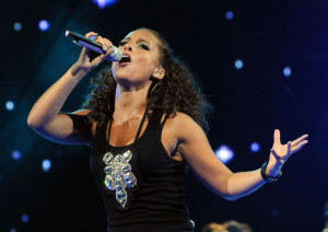 Alicia Keys picture while performing at the NBA All Star Game held at Cowboys Stadium on February 14th 2010 in Arlington Texas 3
