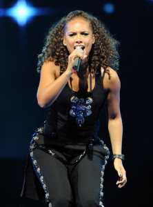 Alicia Keys picture while performing at the NBA All Star Game held at Cowboys Stadium on February 14th 2010 in Arlington Texas 5