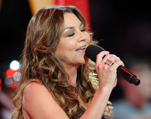 Gretchen Wilson sings during the NBA All Star Game held at Cowboys Stadium on February 14th 2010 in Arlington Texas 4