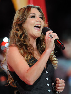 Gretchen Wilson sings during the NBA All Star Game held at Cowboys Stadium on February 14th 2010 in Arlington Texas 1