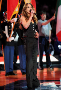 Gretchen Wilson sings during the NBA All Star Game held at Cowboys Stadium on February 14th 2010 in Arlington Texas 3