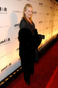 Meryl Streep attends the amfAR New York Gala of Fall 2010 Fashion Week at Cipriani 42nd Street on February 10th 2010 in New York 2