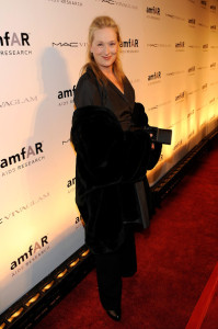 Meryl Streep attends the amfAR New York Gala of Fall 2010 Fashion Week at Cipriani 42nd Street on February 10th 2010 in New York 3