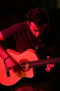 Basel Khoury picture while playing the guitar and performing on stage at a concert 28