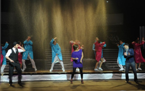 Star Academy season seven first prime picture of Miral with Mahmoud and Mehdi dancing on stage