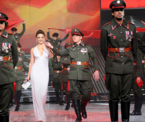 Star Academy season seven first prime picture of Hilda Khalifeh first appearance on stage