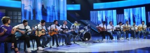 Star Academy season seven first prime picture of students with their guitar performance