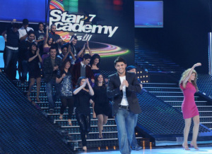 Star Academy season seven first prime picture of students dancing for thr first time