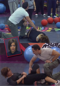 Miral from Syria was the first to hit her self in the sport class in LBC star academy season seven