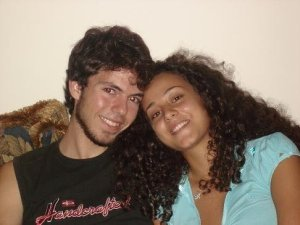 Star Academy seven student Jack Haddad with his girlfriend personal picture
