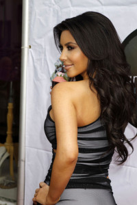 Kim Kardashian promotes the launch of her Vanilla Cupcake Mix at The Famous Cupcakes store on February 19th 2010 in Beverly Hills 2