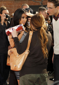 Kim Kardashian promotes the launch of her Vanilla Cupcake Mix at The Famous Cupcakes store on February 19th 2010 in Beverly Hills 7