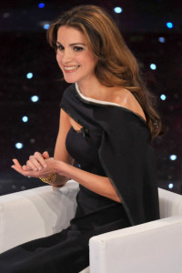 Queen Rania of Jordan at the 60th San Remo Song Festival at the Ariston Theatre On February 19th 2010 in San Remo Italy 9