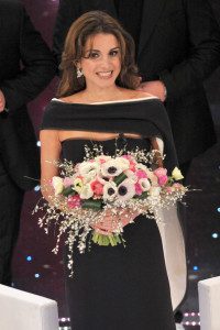 Queen Rania of Jordan at the 60th San Remo Song Festival at the Ariston Theatre On February 19th 2010 in San Remo Italy 11