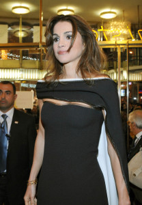 Queen Rania of Jordan at the 60th San Remo Song Festival at the Ariston Theatre On February 19th 2010 in San Remo Italy 10