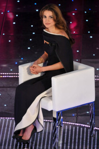 Queen Rania of Jordan at the 60th San Remo Song Festival at the Ariston Theatre On February 19th 2010 in San Remo Italy 7
