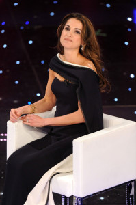 Queen Rania of Jordan at the 60th San Remo Song Festival at the Ariston Theatre On February 19th 2010 in San Remo Italy 1