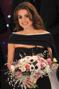 Queen Rania of Jordan at the 60th San Remo Song Festival at the Ariston Theatre On February 19th 2010 in San Remo Italy 17