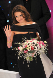 Queen Rania of Jordan at the 60th San Remo Song Festival at the Ariston Theatre On February 19th 2010 in San Remo Italy 5