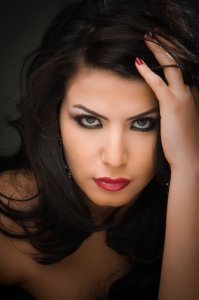 Asmae Mahalawi from Tunisia professional photo shoot face closeup take