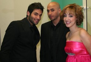 Yahia Sweis with Mohamad Qwaider and Basma Boussiel