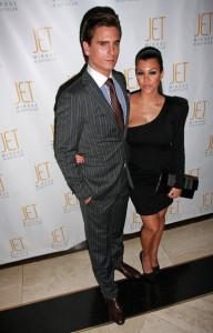Kourtney Kardashian and Scott Disick arrive at Jet nightclub in the Mirage Resort and Casino on February 20th 2010 in Las Vegas 1