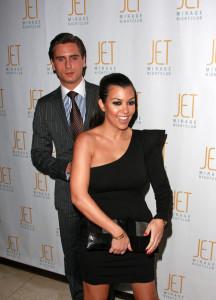 Kourtney Kardashian and Scott Disick arrive at Jet nightclub in the Mirage Resort and Casino on February 20th 2010 in Las Vegas 2