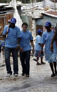 Kris Allen photos as he arrives in Haiti with the UN Foundation on February 23rd 2010 to help the earthquake devastated country 1