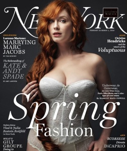 Christina Hendricks photo shoot for the cover of February 2010 issue of New York magazine 2