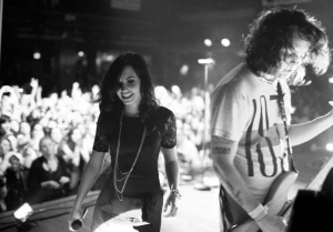 Demi Lovato performs on stage with We The Kings at the House of Blues on February 21st 2010 in Hollywood 2