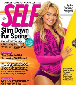 Hayden Panettiere photo shoot for the March 2010 cover of Self magazine 1