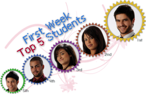 top five students of the second prime of StarAcademy7 on February 26th 2010