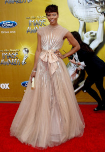 Eva Marcille attends the 41st NAACP Image awards held at The Shrine Auditorium on February 26th 2010 in Los Angeles California 1