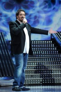 LBC Star Acdemy seven photo of the second prime on February 26th 2010 with Abdel Aziz from Kuwait singing on stahe