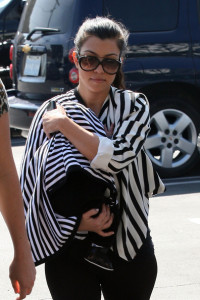 Kourtney Kardashian spotted carrying her new born baby Mason Dash Disick as she went shopping on February 25th 2010 at Fred Segal in West Hollywood 1